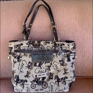 Coach Horse & Carriage East West Gallery Tote